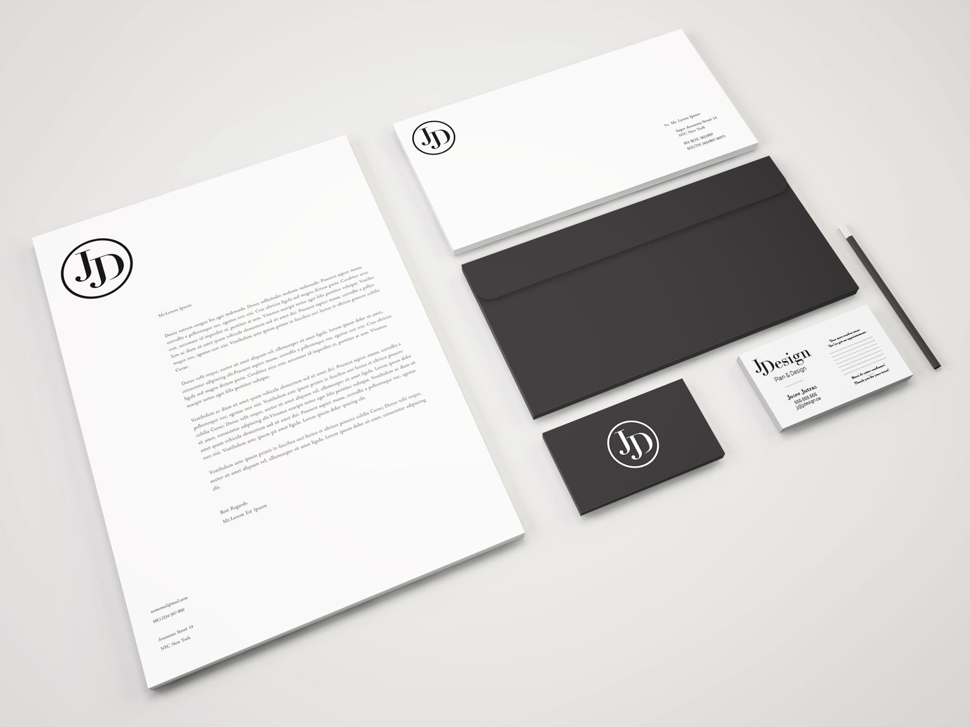 1 Branding Stationery PSD Mockup